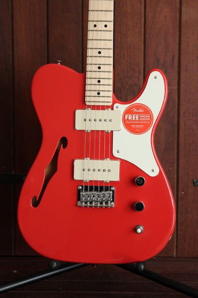 Squier Paranormal Cabronita Telecaster Thinline Fiesta Red Guitar