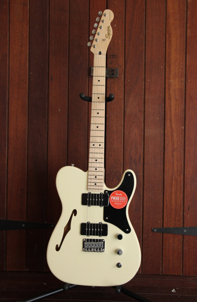 Squier Paranormal Cabronita Telecaster Thinline Olympic White Guitar