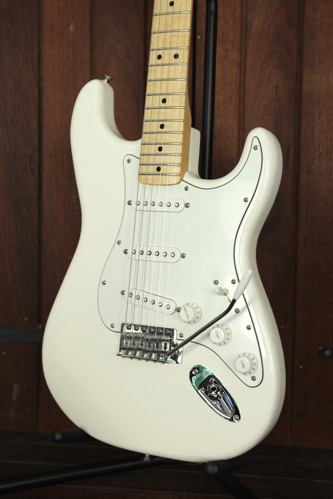 Fender Standard Series Stratocaster Electric Guitar Olympic White - The Rock Inn