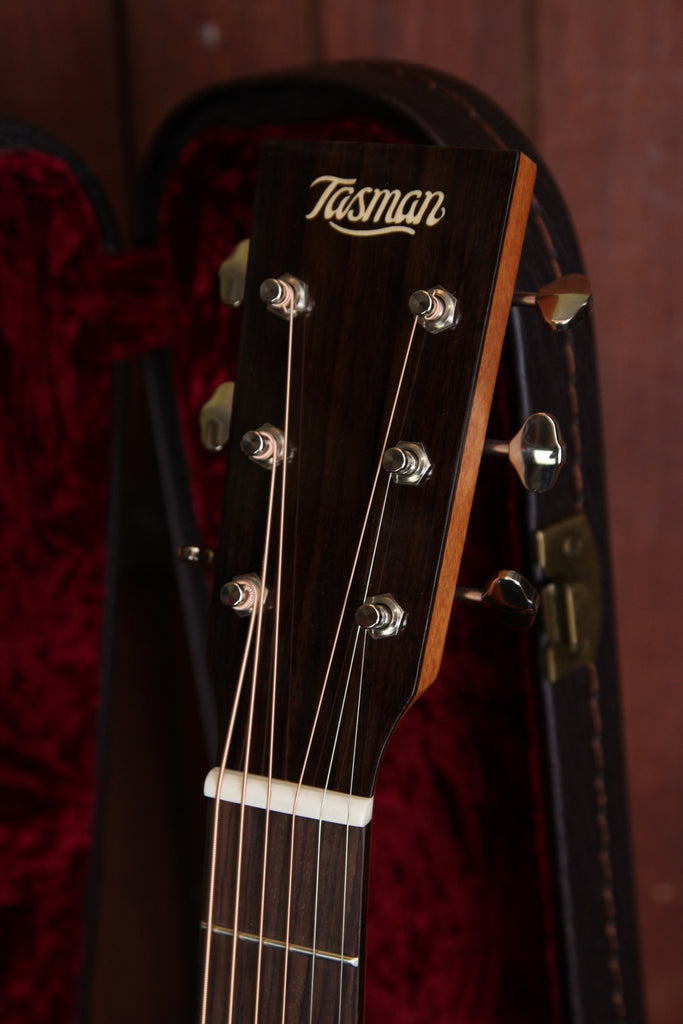 Tasman TA100M-E Mini GS Style Acoustic-Electric Guitar with Case