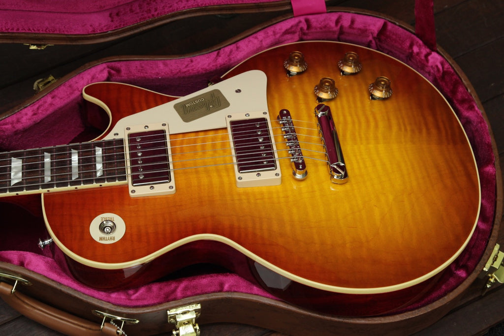Gibson Custom Standard Historic 1958 Les Paul Sunrise Tea Burst - The Rock Inn - 7