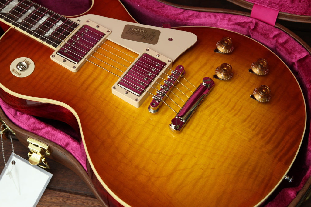 Gibson Custom Standard Historic 1958 Les Paul Sunrise Tea Burst - The Rock Inn - 9