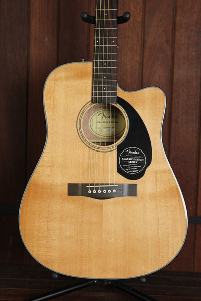 Fender CD-60SCE Solid Top Dreadnought Acoustic-Electric Guitar
