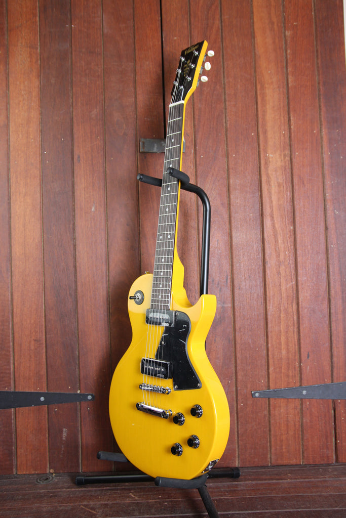 Vintage V132 Solidbody P90 Electric Guitar TV Yellow