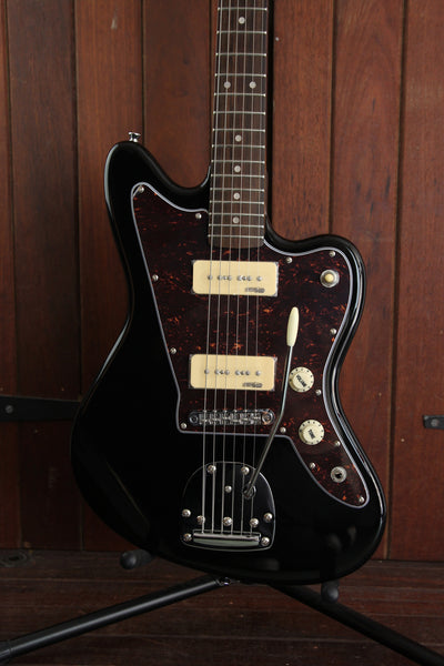 Vintage V65 Vibrato Offset Electric Guitar Gloss Black