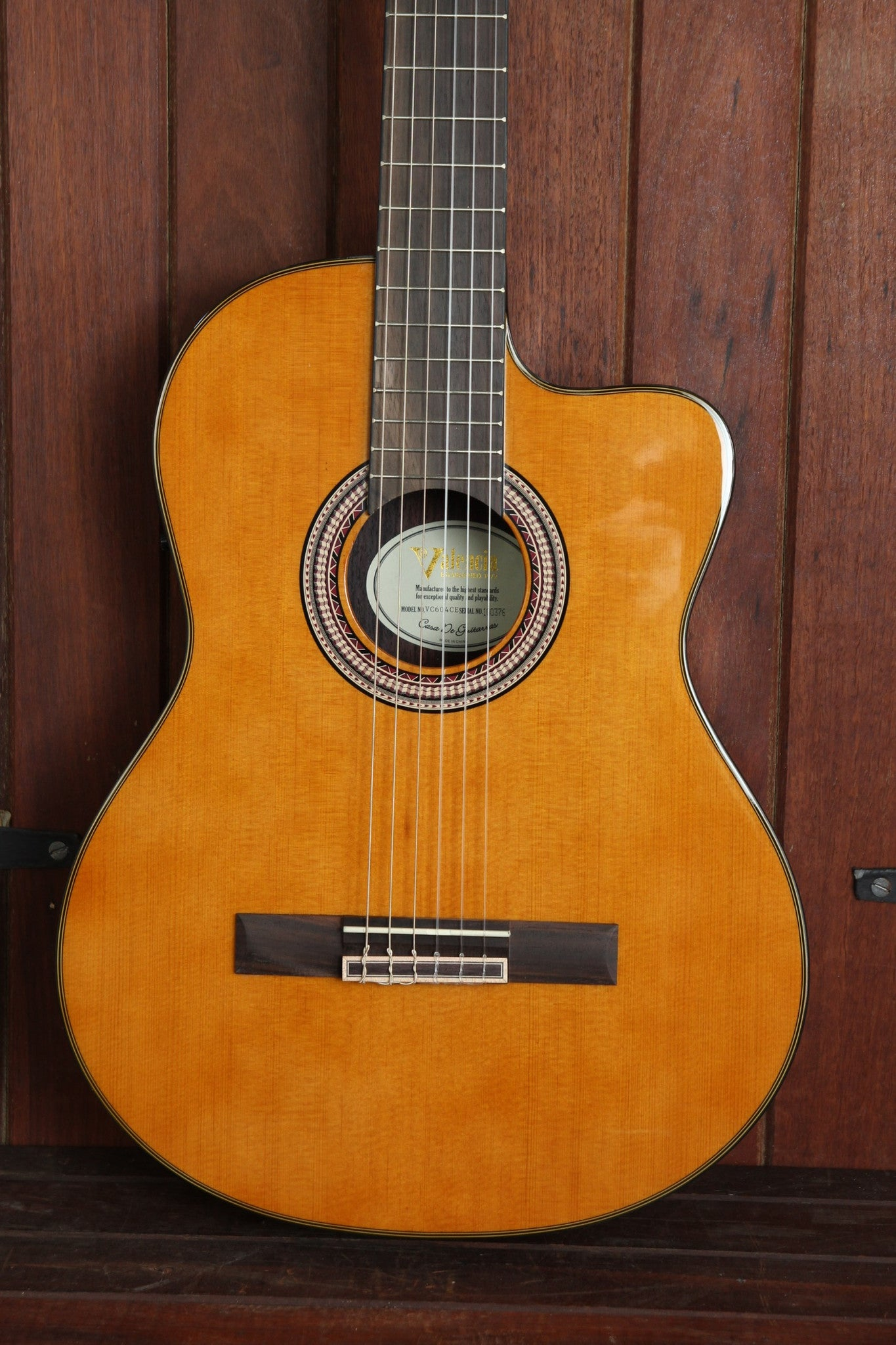 Valencia VC604CE Acoustic-Electric Cutaway Nylon Guitar - The Rock Inn - 1