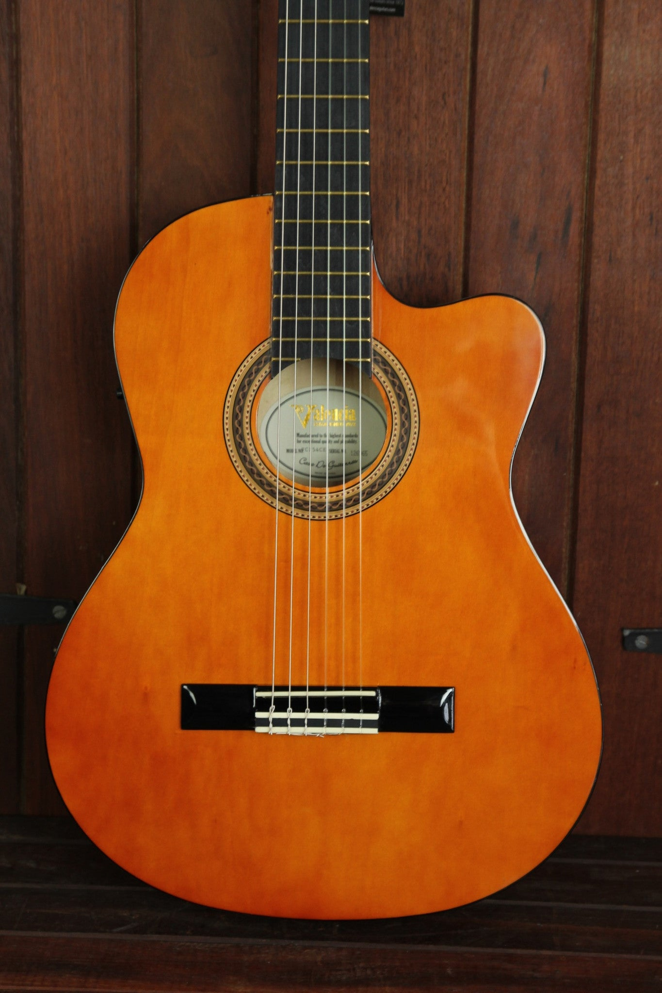 Valencia VC154CE Series Classical Nylon Acoustic-Electric Guitar - The Rock Inn - 1