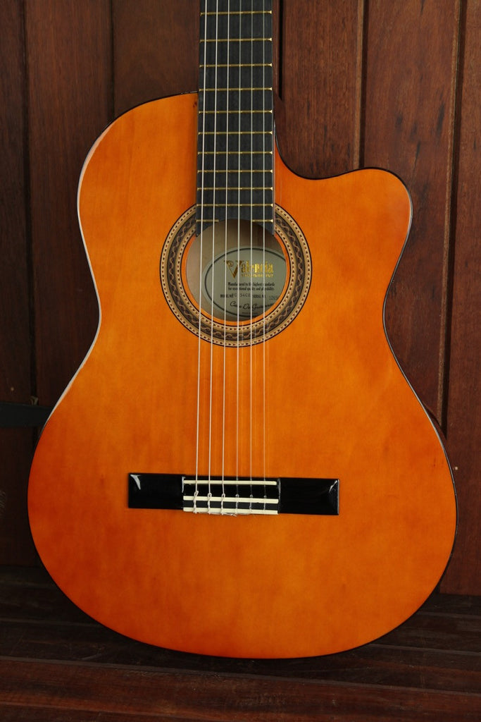 Valencia VC154CE Series Classical Nylon Acoustic-Electric Guitar - The Rock Inn