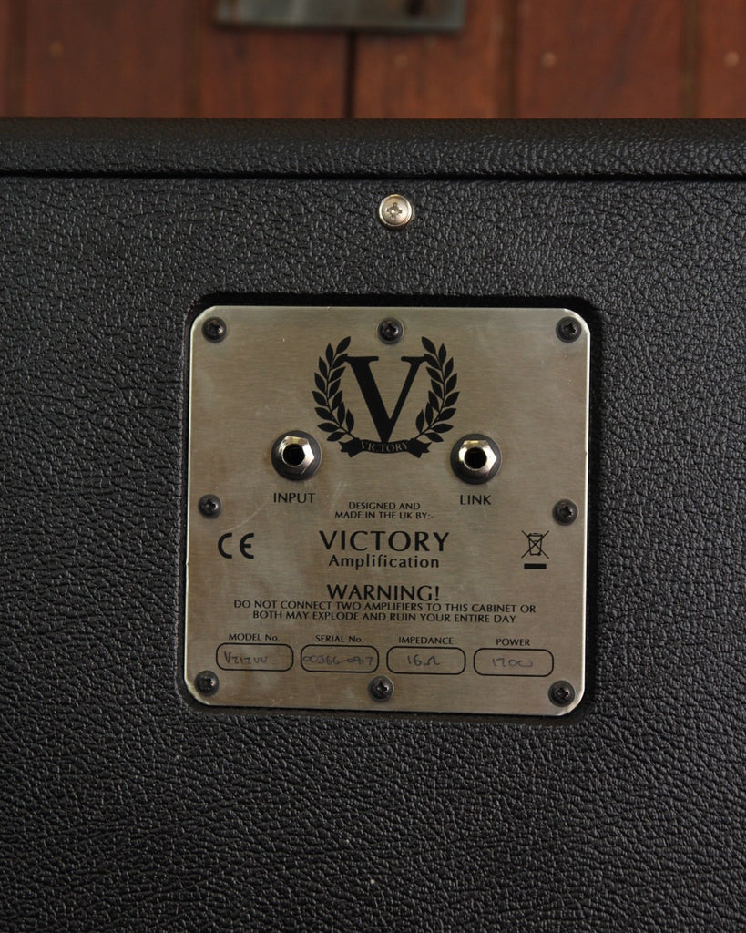 "Victory Amplification V212VV Black 2x12"" Vertical Speaker Cabinet"