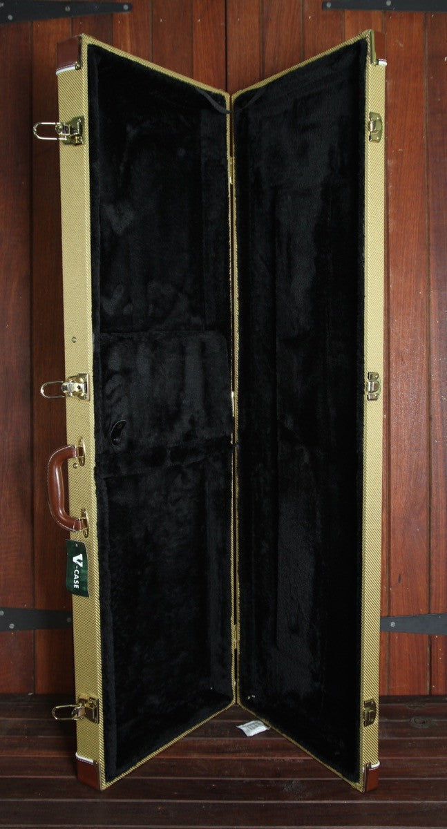 V-Case Hardshell P/J Multifit Bass Guitar Case Tweed BCP525T - The Rock Inn