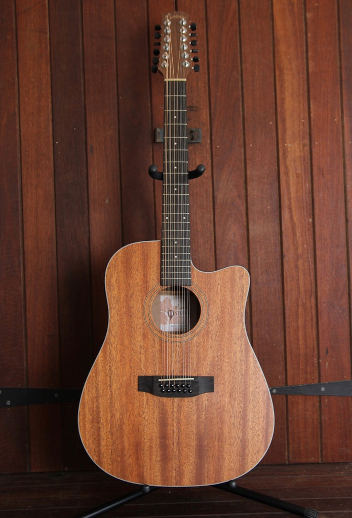 Martinez MNDC-1512 Dreadnought Cutaway 12-String Acoustic-Electric Guitar
