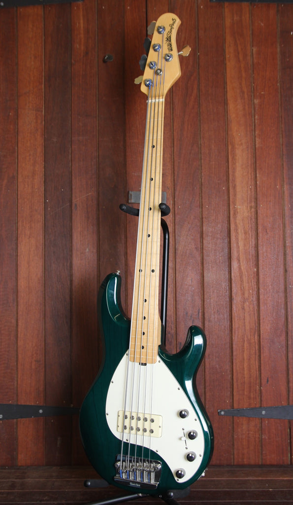 Ernie Ball Music Man Stingray 5 Fretless Bass Teal Pre-Owned