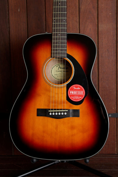 Fender CC-60S Solid Top Concert Size Acoustic Sunburst