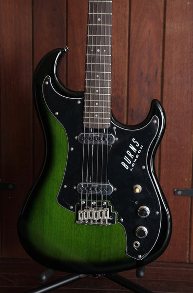 Burns SSJ Electric Guitar Green Burst