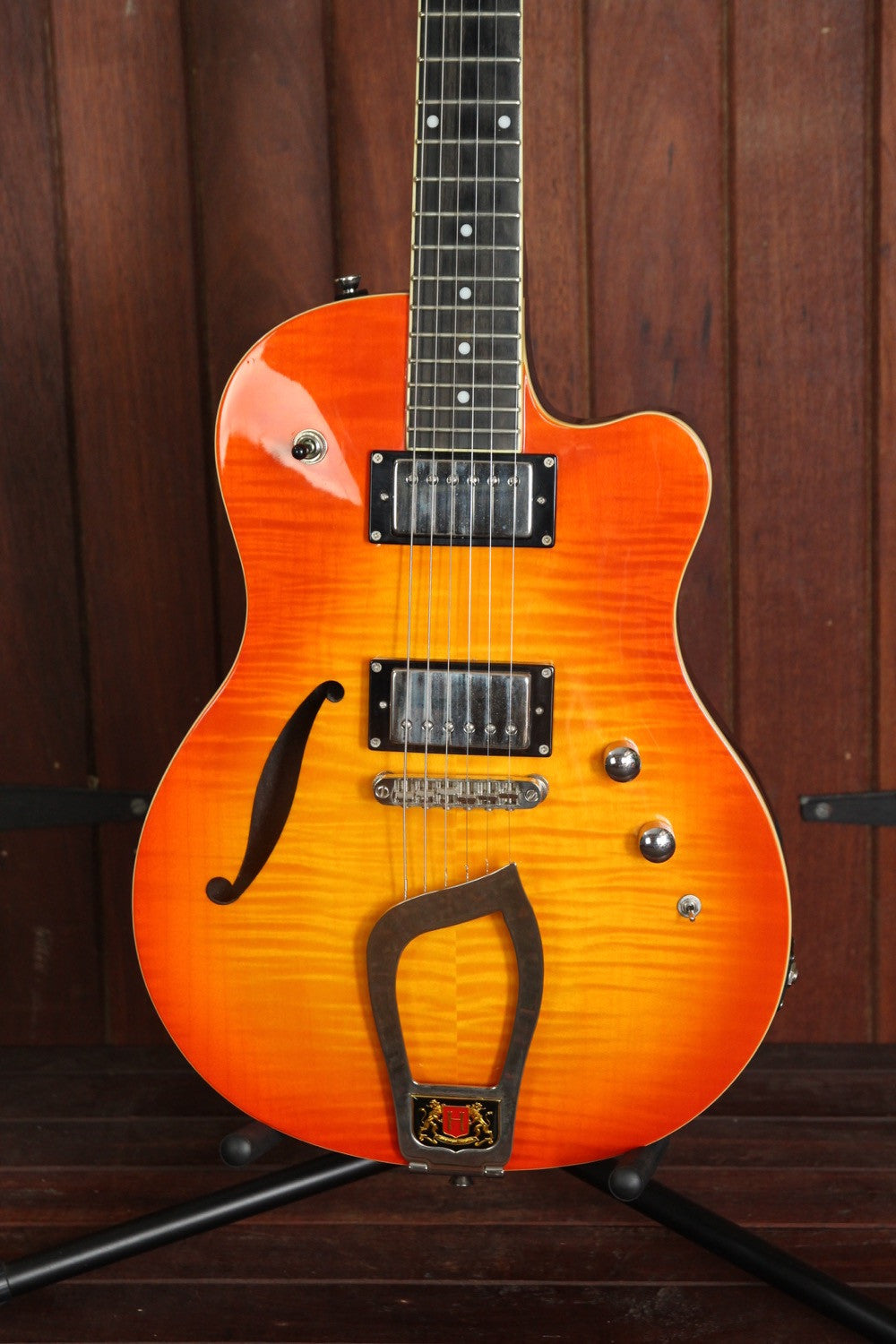 Hagstrom D2F Sunburst Semi-Hollow Electric Guitar