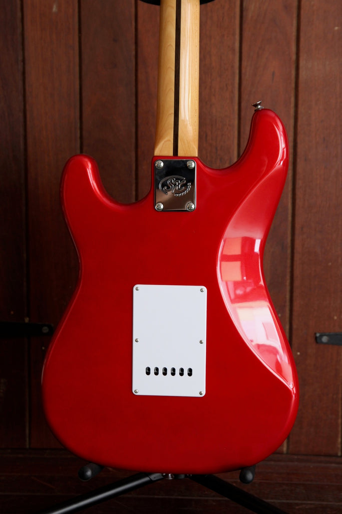 SX Vintage Style Electric Guitar Fiesta Red with Bag