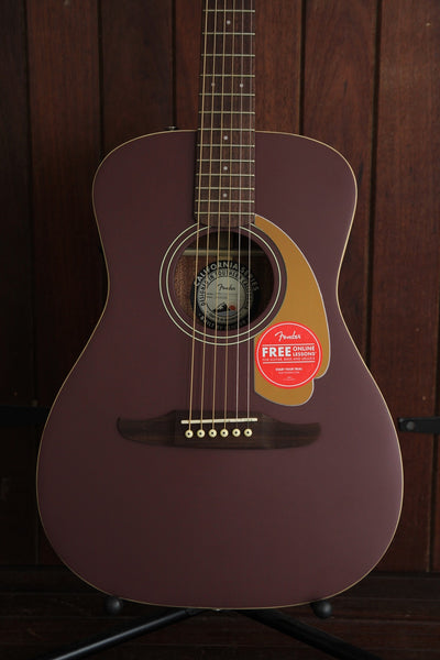 Fender California Player Malibu Satin Acoustic Guitar Burgundy