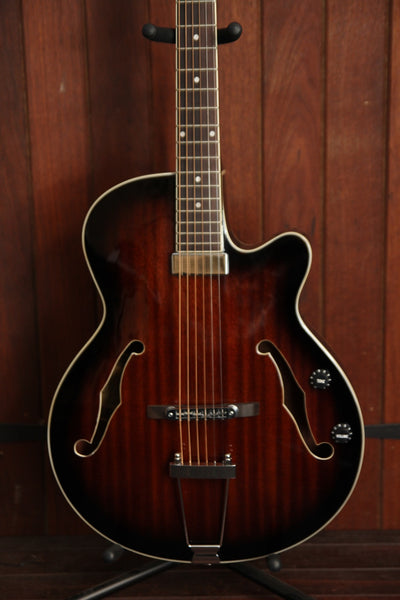 J&D Luthiers JD-AG20CE Arch Top Jazz Guitar