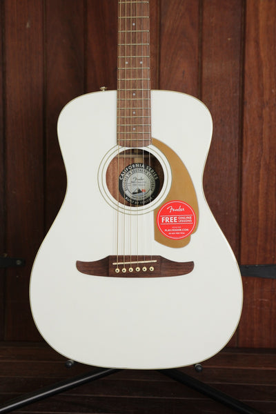 Fender California Player Malibu Acoustic Guitar Arctic Gold