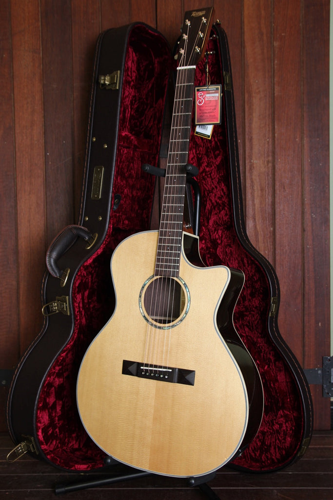 Tasman TA200GS-CE Grand Symphony Acoustic Electric Guitar with Case