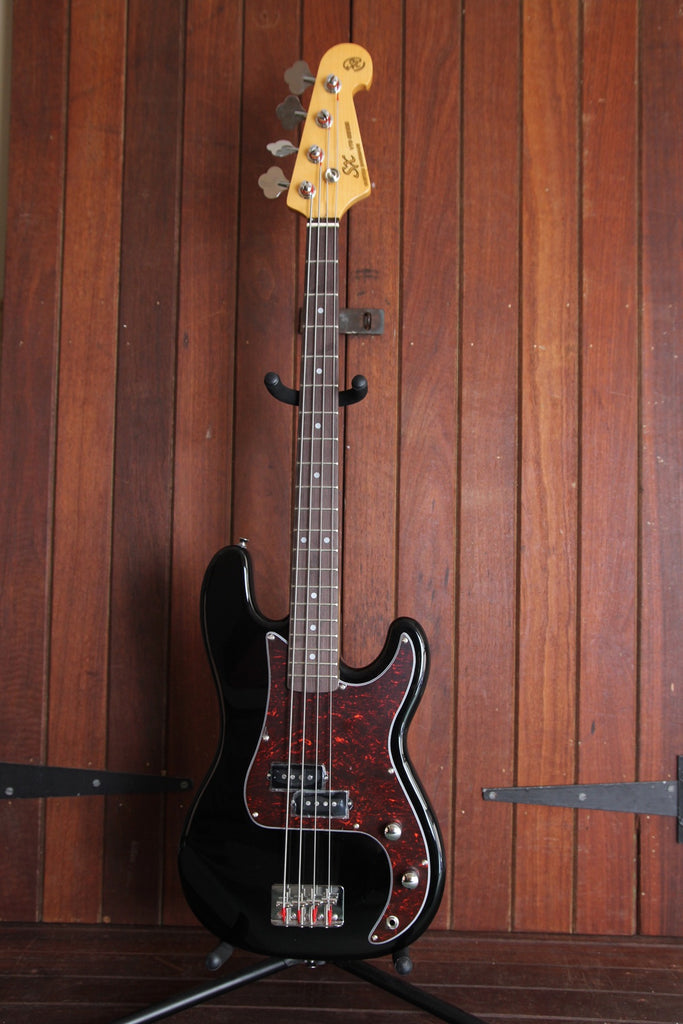SX PB Bass 3/4 Size Solidbody Electric Bass Guitar Black