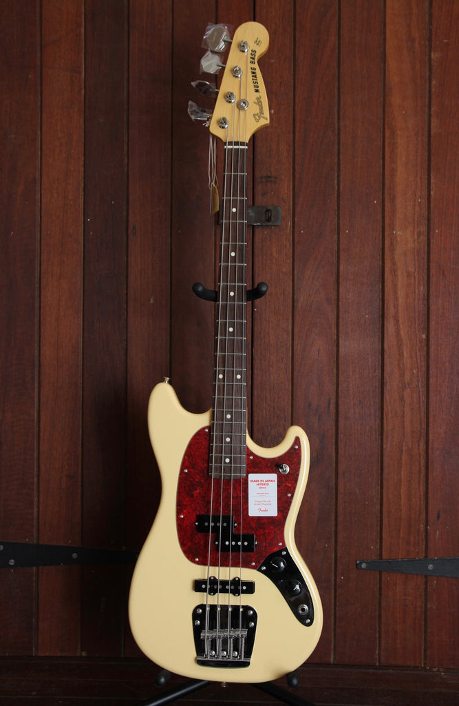 Fender Hybrid Mustang Bass Made in Japan Vintage White
