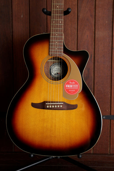 Fender California Player Newporter Acoustic Guitar Sunburst