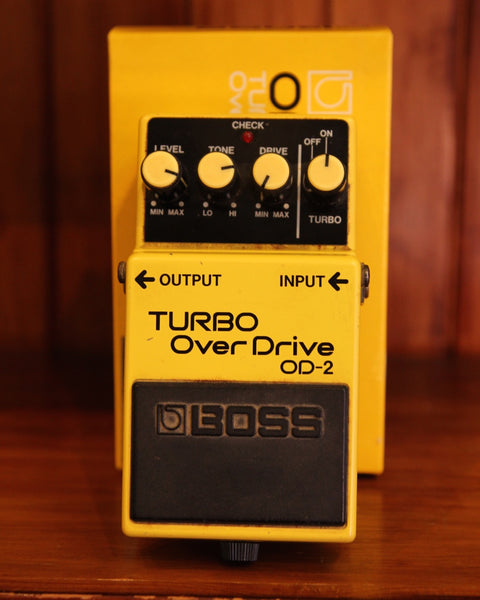Boss OD-2 Turbo Overdrive Vintage 1988 Made In Japan