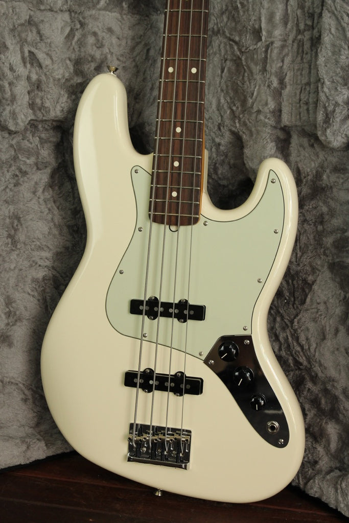 Fender American Professional Jazz Bass Olympic White - The Rock Inn