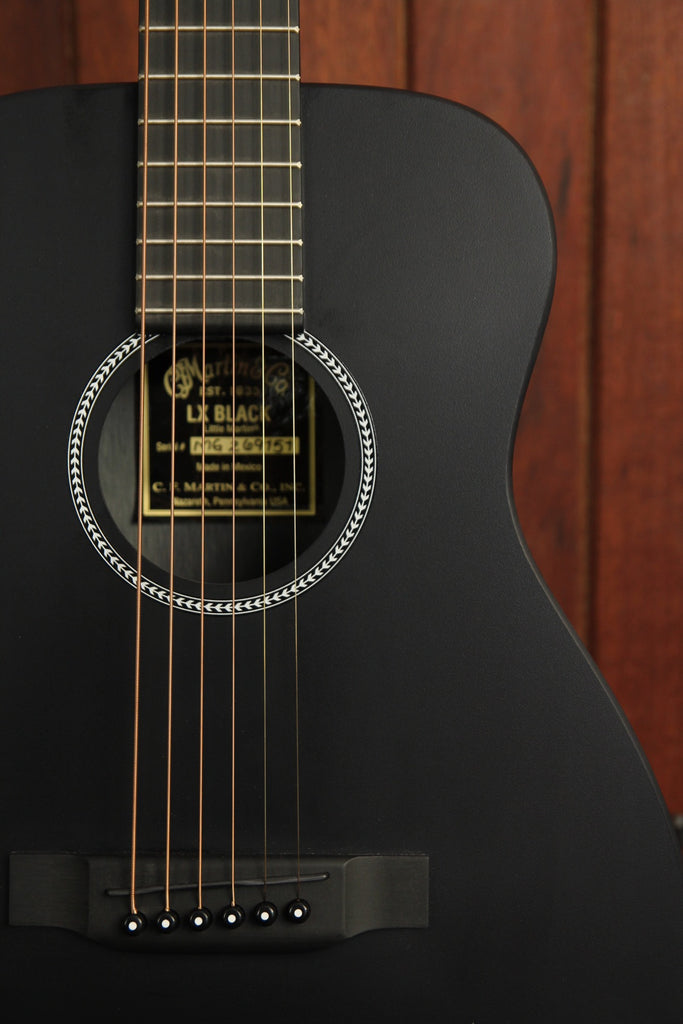 Martin X Series LX1 Black Little Martin Acoustic Guitar