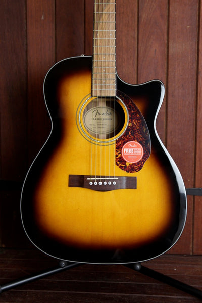 Fender CC-140SCE Cutaway Concert Sunburst Acoustic-Electric Guitar
