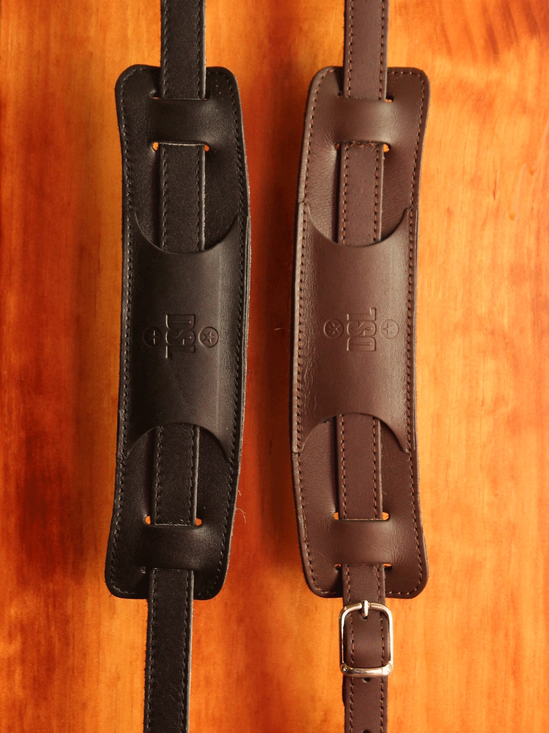 "DSL Vintage Style Narrow 2.5"" Leather Strap - Made in Aus - The Rock Inn - 1"