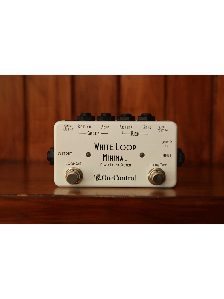 One Control White loop box - True Bypass Looper - The Rock Inn