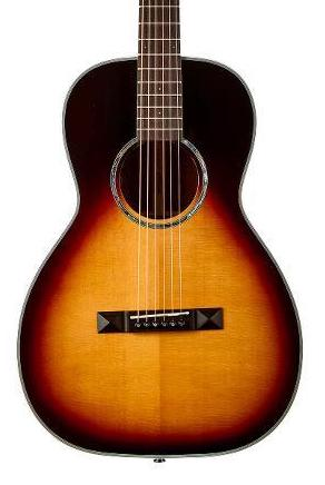 Tasman TA100P-E Parlor Acoustic-Electric Guitar with Case