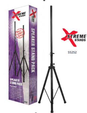 Speaker Stand - SS252 Xtreme Speaker Stands Pack (2) - The Rock Inn
