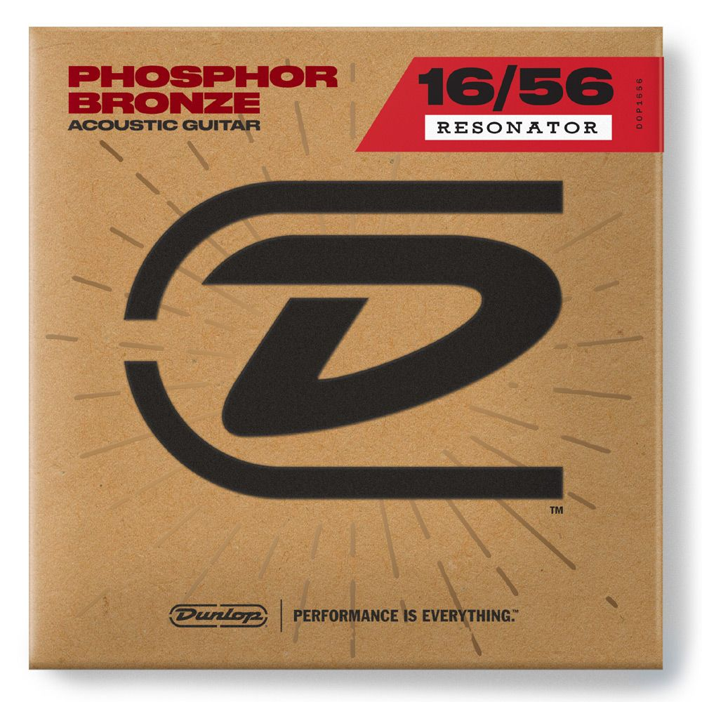Dunlop Phosphor Bronze Resonator Acoustic Guitar Strings, 16-56