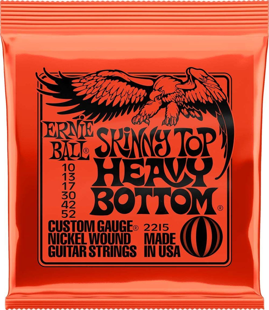 Ernie Ball 10-52 Nickel Skinny Top/Heavy Bottom Electric Guitar Strings 2215