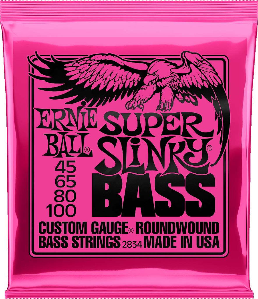 Ernie Ball 45-100 Round Wound Super Slinky Bass Guitar Strings 2834