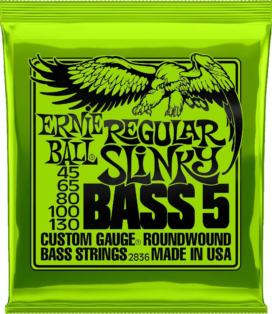 Ernie Ball 45-130 Round Wound Regular Slinky 5 String Bass Strings 2836