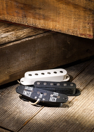 Lollar Pickups Strat Tweed Staggered-Pole Pickup Set of 3 Parchment