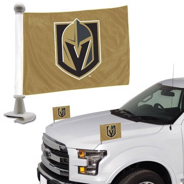 "NHL - Vegas Golden Knights Ambassador Flags 4"" x 6"" - Knights Primary Logo - Gold Flag"