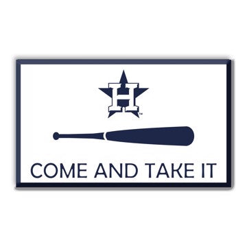 "MLB - Houston Astros Embossed Color Emblem 2 3.25"" x 3.25""- ""Come And Take It"" CATI Flag"