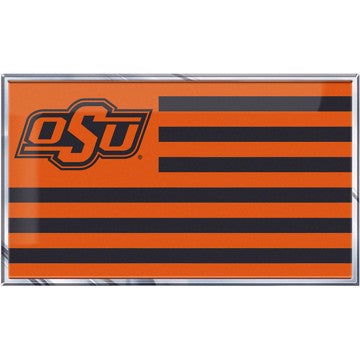 "Oklahoma State University Embossed State Flag Emblem 2"" x 3.5"" - Primary Team Logo on State Flag Design"