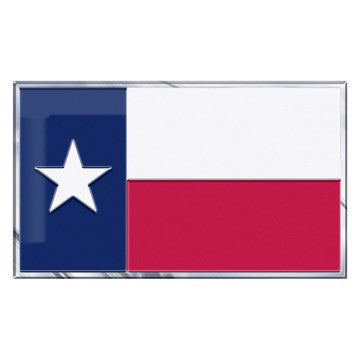 "Texas, State of Embossed State Flag Emblem 2"" x 3.5"" - Texas State Flag"