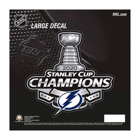 2020 Tampa Bay Lightning Stanley Cup Champion Large Decal