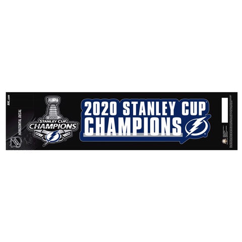 2020 Tampa Bay Lightning Stanley Cup Champion Team Slogan Decal