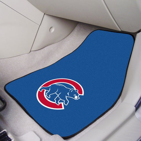 "Chicago Cubs 2-pc Carpet Car Mat Set - 17""x27"""