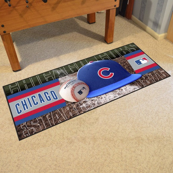 "Chicago Cubs Baseball Runner - 30""x72"""