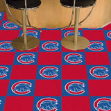 "Chicago Cubs Team Carpet Tiles - 18""x18"" tiles"