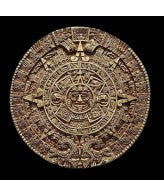 "Aztec Solar Calendar Relief  Plaque 17""- Antique Stone"